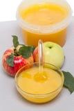 Äpplen och honung Royaltyfria Foton