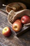 Äpplen och honung Royaltyfri Bild