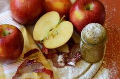 Äpplen och jul Arkivbilder
