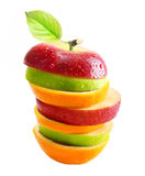 Äpplen och orange frukt Royaltyfria Bilder