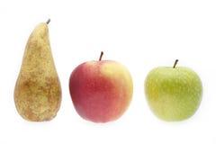 Äpplen och pear Royaltyfria Foton