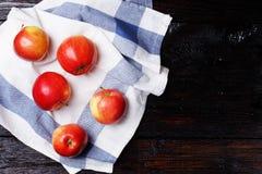 Äpplen på tabellen Royaltyfri Fotografi