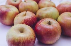 Äpplen på tabellen Royaltyfri Bild