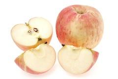 Äpplen på vit bakgrund Fotografering för Bildbyråer