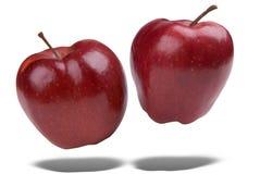 äpplen som flottörhus red Arkivbilder