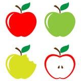 äpplen ställde in vektor illustrationer