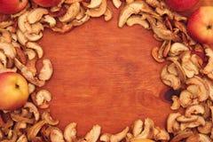 äpplen torkade nytt Royaltyfri Fotografi