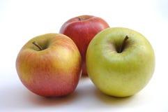 äpplen tre arkivbilder