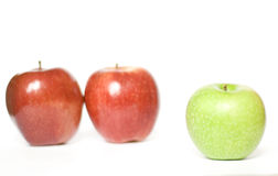äpplen tre Arkivfoton