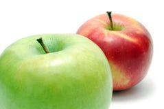 äpplen två Arkivbilder
