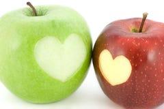 äpplen två Royaltyfri Bild