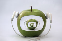 äpplespelare Fotografering för Bildbyråer