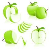 äpplestycken Arkivfoton