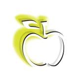 äpplesymbol vektor illustrationer