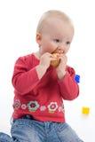 äpplet behandla som ett barn Royaltyfri Fotografi