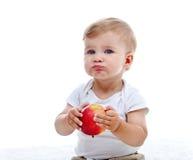 äpplet behandla som ett barn pojken Royaltyfri Bild