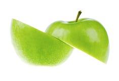 äpplet cutted nytt arkivbild