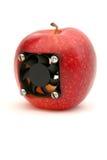 äpplet datoriserade Arkivbilder
