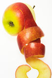 äpplet skalade Arkivbilder