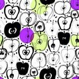 äpplet som bakgrund är kan den använda wallpaperen Royaltyfri Illustrationer