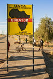 Äquator in Kenia stockfoto