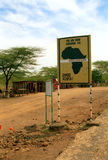 Äquator, Nanyuki, Kenia lizenzfreies stockbild