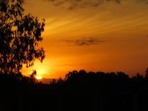 Äquator-Sonnenaufgang stockfotos