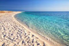 Är den Arutas stranden, Sardinia, Italien, Europa Arkivbilder