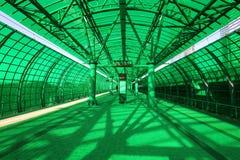 Är den centrala cirkeln för Moskva, 54 järnväg för orbital 4-kilometre-long Ryssland Öppnat 10 September 2016 Delovoy Tsentr järn Arkivfoton