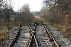 Är den enkla strömbrytaren för järnväg, en linje rullgardinen Arkivbilder