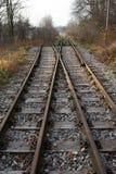 Är den enkla strömbrytaren för järnväg, en linje rullgardinen Arkivfoto