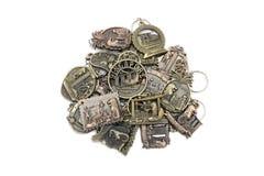 Är den nyckel- kedjan för metall souvenir från det singapore tecknet Arkivbild