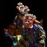 Är den sakrala danschamen för den traditionella buddisten, dans i Lama Masks det högt tantric påbörjandet Fotografering för Bildbyråer
