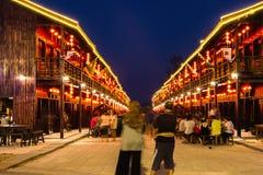 Är den shoping gallerian för den Kina stadgatan nya dragningar i det Songkhla landskapet, Thailnad Arkivbild