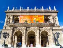 Är den statliga operahuset för ungrare enrenässans operahus som lokaliseras i Budapest royaltyfri fotografi