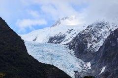 Är den viktiga resande destinationen för den Franz joseftglaciären i söder Arkivbild