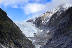 Är den viktiga resande destinationen för den Franz joseftglaciären i söder Arkivfoton