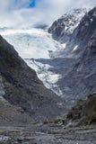 Är den viktiga resande destinationen för den Franz joseftglaciären i söder Royaltyfri Fotografi