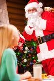 Är det dig jultomten? Arkivbilder
