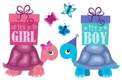 Är det ett flicka- eller pojkeämne 2 royaltyfri illustrationer