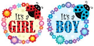 Är det ett flicka- eller pojkeämne 1 royaltyfri illustrationer