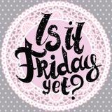 Är det fredag ändå bokstäver stock illustrationer