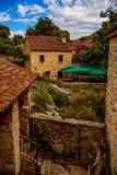 Är det gamla huset för stenen av den Krka nationalparken ett av kroaten Royaltyfria Bilder