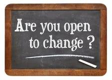 Är du öppen till ändring? Royaltyfria Bilder