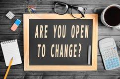Är du öppen till ändring? Royaltyfri Fotografi