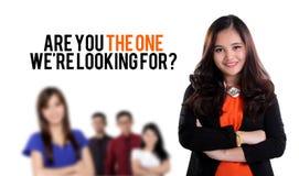 Är du den en we&en x27; beträffande söka efter? Royaltyfri Fotografi