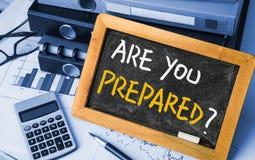 Är du förberedd? Arkivbild