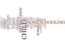 Är du ordnar till till Homeschool ditt barn ändå uttrycker molnbegrepp Arkivfoto