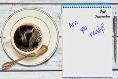 Är du ordnar till till 1st av det september begreppet Royaltyfri Foto