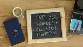 Är du vänskapsmatchen, kollegialt och lyckligt Royaltyfri Bild